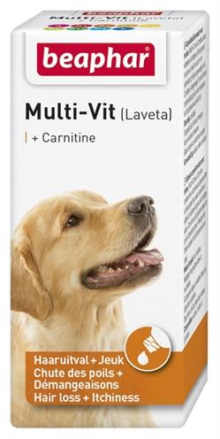 Beaphar multi-vit laveta + carnitine hond (20 ML)