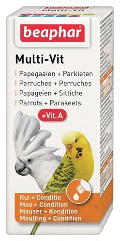 Beaphar multi-vit papegaai en grote parkieten (20 ML)