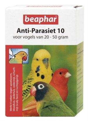 Beaphar anti-parasiet 10 vogel (20-50gr) (2 PIP)
