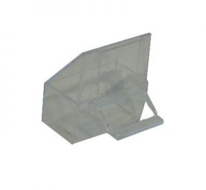 Gabber kapbak speciaal transparant (7X3,5X3,5 CM)
