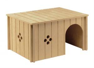 Ferplast knaaghuis sin 4647 hout (37X27,5X20 CM)