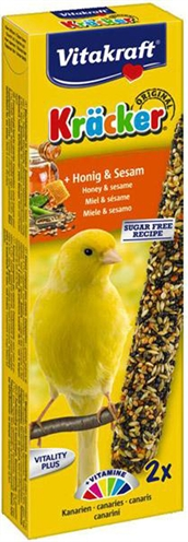 Vitakraft kanarie kracker honing (2 IN 1)