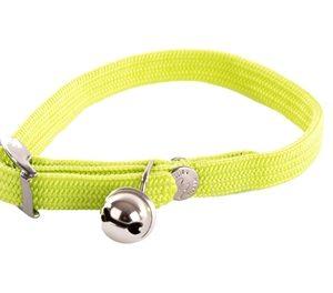 Halsband kat elastisch nylon groen (30X1 CM)