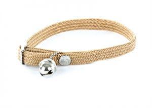 Halsband kat elastisch nylon beige (30X1 CM)