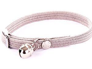 Halsband kat elastisch nylon grijs (30X1 CM)