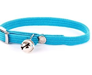 Halsband kat elastisch nylon turquoise (30X1 CM)
