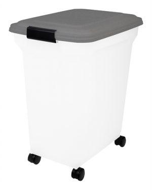 Bewaarcontainer luchtdicht transparant / grijs (45 LTR)