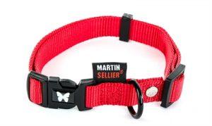 Martin sellier halsband nylon rood verstelbaar (10 MMX20-30 CM)