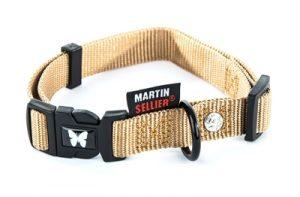 Martin sellier halsband nylon beige verstelbaar (10 MMX20-30 CM)