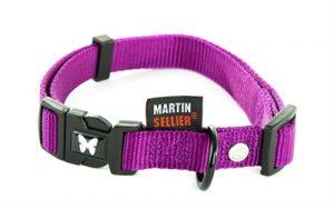 Martin sellier halsband nylon paars verstelbaar (10 MMX20-30 CM)