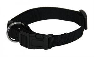 Martin sellier halsband basic nylon zwart (10 MMX20-30 CM)