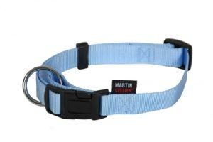 Martin sellier halsband basic nylon blauw (10 MMX20-30 CM)