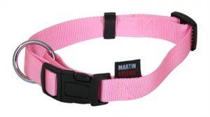 Martin sellier halsband basic nylon roze (10 MMX20-30 CM)