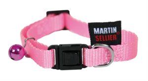 Kattenhalsband nylon uni roze (13 MMX20-30 CM)