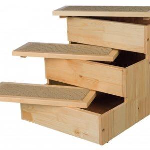 Trixie trap petstair vurenhout (40X45X38 CM)