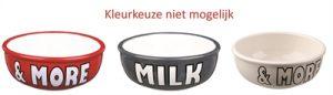 Trixie voerbak keramiek milk&more assorti (400 ML 13 CM)