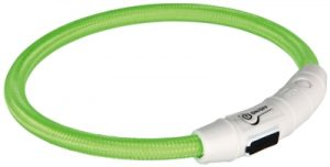 Trixie halsband flash light lichtgevend usb oplaadbaar groen (7 MMX65 CM)