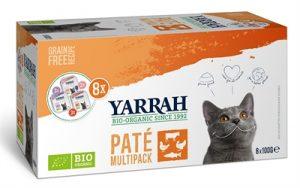 Yarrah organic kat multipack pate zalm / kalkoen / rund (8X100 GR)