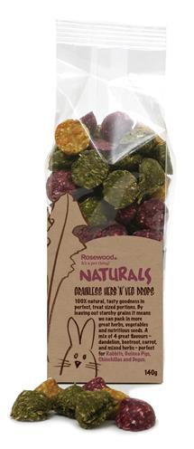 Rosewood naturals kruiden/groenten drops (140 GR)