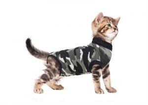 Suitical recovery suit kat zwart camouflage (XXS 33-42 CM)