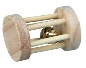 Trixie speelrol hout met bel (7X5 CM)