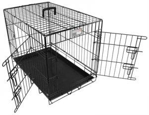 Doginox bench 2-deurs zwart (108,5X70,5X77,5 CM)