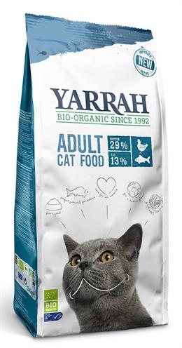 Yarrah cat biologische brokken vis (msc) zonder toegevoegde suikers (2,4 KG)