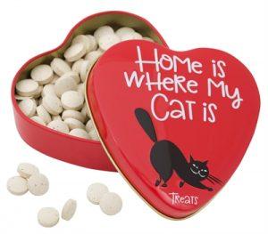 Sanal hartenblik home is where my cat is gistsnoepjes (60 GR)