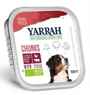 Yarrah dog alu brokjes rund met peterselie / tijm in saus graanvrij (12X150 GR)