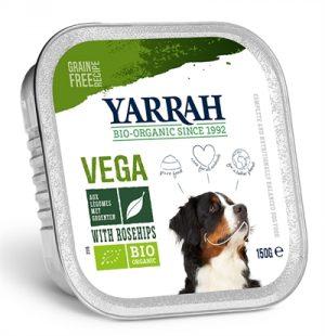 Yarrah dog alu brokjes vega met rozenbottels (12X150 GR)