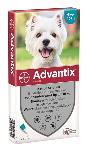 Bayer advantix spot on (100/500 4-10 KG – 4 PIP)