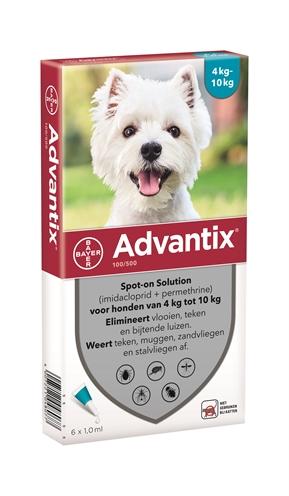 Bayer advantix spot on (100/500 4-10 KG – 6 PIP)