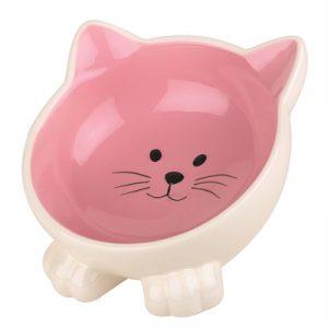 Happy pet voerbak kat orb roze / creme
