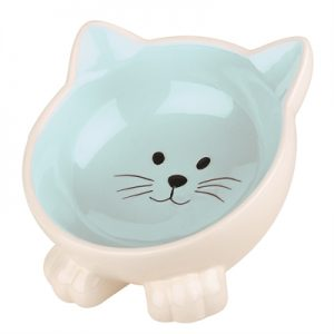 Happy pet voerbak kat orb blauw / creme
