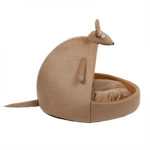 Ministry of pets kattenmand iglo kylie de kangeroe bruin (60X40X42 CM)