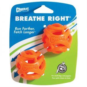 Chuckit breathe right fetch bal oranje (5 CM 2 ST)