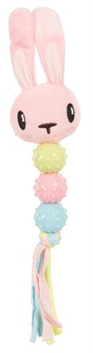 Zolux puppyspeelgoed plush ratel konijn roze (9X3,5X23 CM)