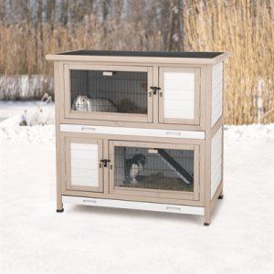 Trixie natura konijnenhok met isolatie grijs (116X65X113 CM)