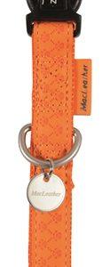 Macleather halsband oranje (20 MMX35-50 CM)