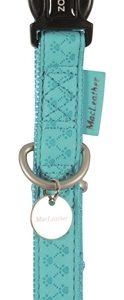 Macleather halsband blauw (20 MMX35-50 CM)