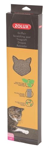 Zolux krabplank karton met catnip (44X11,5X3 CM)
