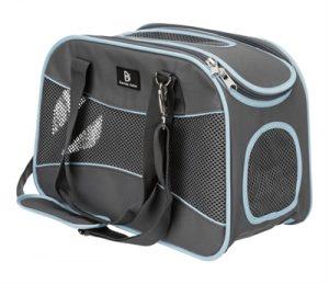 Trixie hondentas alison grijs / lichtblauw tot 8 kg (43X20X29 CM)