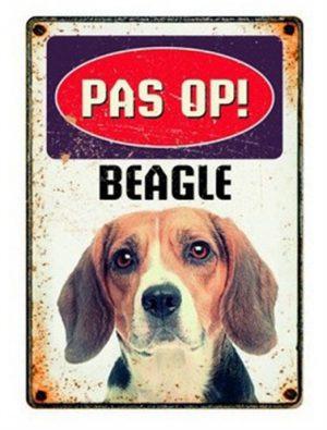 Plenty gifts waakbord blik beagle (15X21 CM)