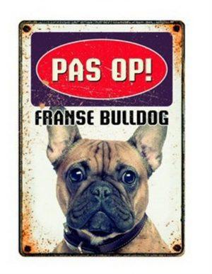 Plenty gifts waakbord blik franse bulldog (15X21 CM)