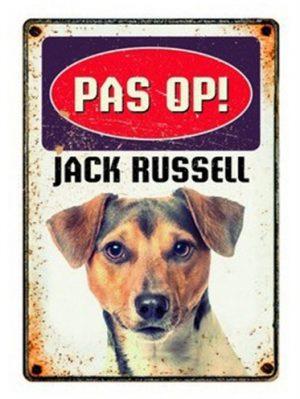 Plenty gifts waakbord blik jack russell (15X21 CM)