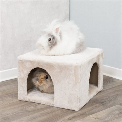 Trixie knaagdierhuis iglo pluche beige (36X36X25 CM)