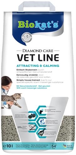 Biokat's kattenbakvulling diamond care vet line attracting & calming (10 LTR)