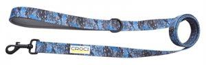 Croci hondenriem jackson tweezijdig blauw / grijs (150X1,9 CM)