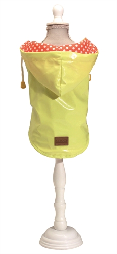 Croci hondenjas regenjas raindrop lemon geel (30 CM)