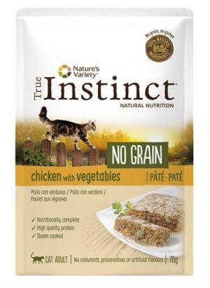 True instinct pouch no grain adult chicken pate (70 GR)